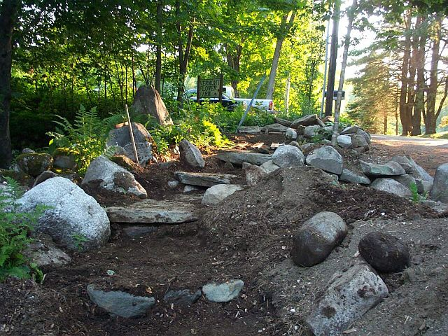 how to build stone steps into a slope